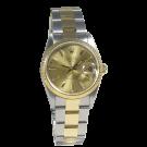 Rolex Oyster Perpetual Date, 34 mm, Stahl/Gelbgold, Zustand: sehr gut