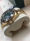 Rolex Oyster Perpetual GMT-Master II, Gelbgold, 40 mm, verklebt, Full Set, inkl. MwSt.